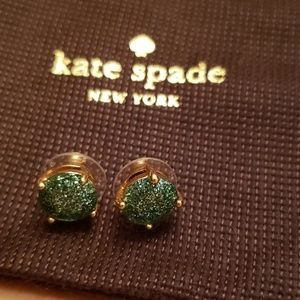 Never worn Kate Spade Blue Sparkly Earrings